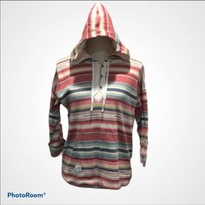 Lauren Ralph Lauren Colorful Striped Hoodie